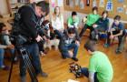 Snemanje oddaje infodrom z ekipo FLL