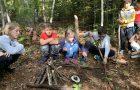 Likovni pouk v gozdu